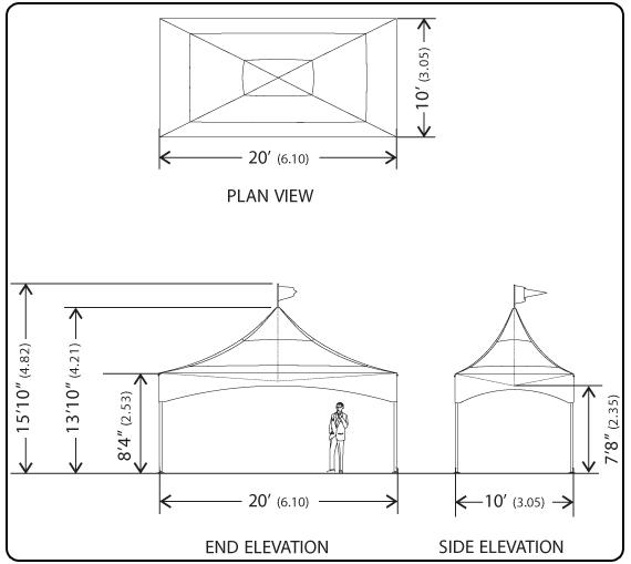 Elevation Plan Measurements : Warner shelter systems limited branded logo tents for