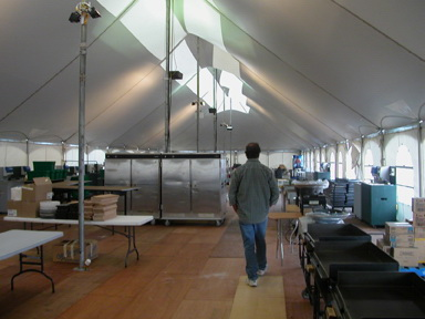 WSSL Peak Pole Field Kitchen Tent & WSSL Commercial Tents used for Warner Shelter Corp. Plant BC and ...