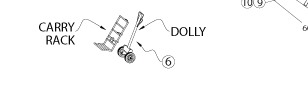 Dolly and Carry rack for Peak Pole Tent, PPT60X