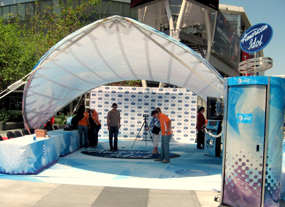 ... Arabesque Canopy Portable Shade Structure for American Idol Corporate Event & WSSL Sun Shade Structures Sun Shade Tents and Sun Shade Tensile ...