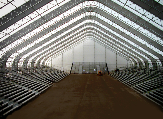 ... WSSL GIGA-Span Pre-engineered Steel Truss Fabric Covered Building & WSSL - Portable Structures Relocatable Structures and Portable ...