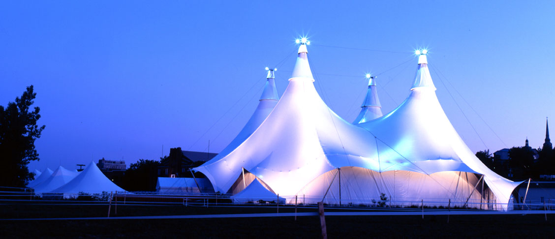 WSSL Peak Pole Tent in tour around the world with Cavalia